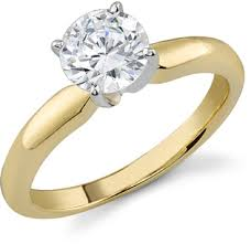gold 1 carat engagement rings graded 1 carat solitaire ring h color si1 clarity