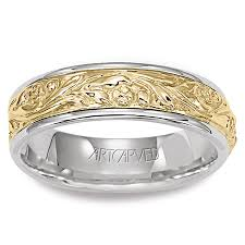 mens two tone wedding bands 11 wv4008 success two tone gold wedding band for men from