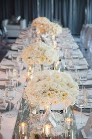 Wedding Reception Table Settings Silver And White Flowers Winter Table Setting Ideas Deer Pearl