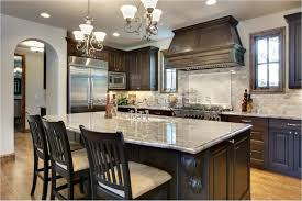 kitchen kitchen white painted wall dark cabinets quartz countertop
