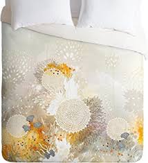 amazon com deny designs iveta abolina white velvet duvet cover