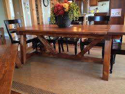 Ana White Farmhouse Table Bench Ana White 4x4 Truss Beam Table And Bench Diy Projects