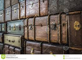 stacked luggage trunks stock photo image 92614319
