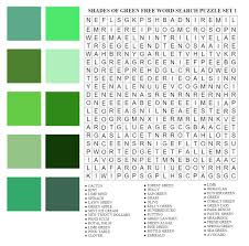 Shades Of Green by Shades Of Green Free Word Search Puzzle Set 1 By Anino Ogunjobi