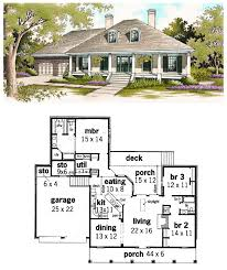 house plans with front and back porches colonial houseplan 65625 has 1800 square of living space 3