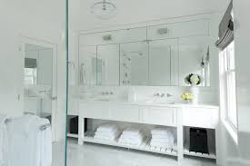 gray bathroom vanity with shelf design ideas