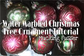 water marbled tree ornament tutorial