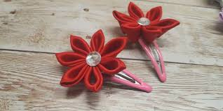 diy kanzashi flower hairclip kanzashi flower tutorial how to