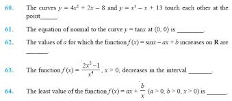 class 12 important questions for maths u2013 application of