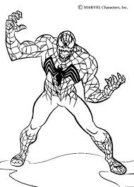 venom ready attack coloring pages hellokids