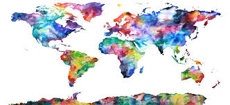 Watercolor Map Of The World by Interpreter And Translator Pay Statistics Ingco International