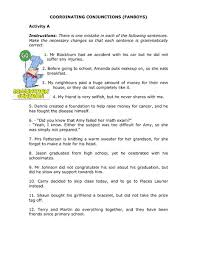 fanboys conjunctions worksheet free worksheets library download