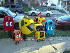 Pacman Halloween Costume Homemade Ms Pac Man Ghost Halloween Couple Costume
