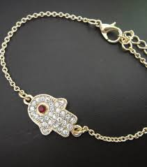 red crystal bracelet images Symbolism hamsa hand gold clear red crystal bracelet it 39 s jpg