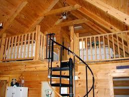 Wooden Handrail Extraordinary Loft House Plans Cabin Using Wooden Handrail Also