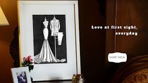 landing page wedding dress ink
