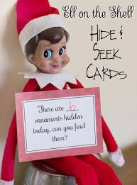 free printable on the shelf hide and seek cards
