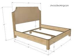 dimensions of a king size bed frame for king platform bed frame