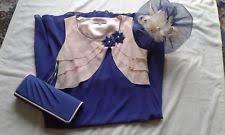 jacques vert mother of bride blue dress jacket bag u0026 fascinator