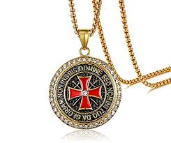 vintage cross necklace images Xuanpai stainless steel rhinestone vintage malta knights templar jpg