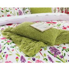 modern floral bedding sanderson spring flowers bed linen at