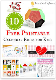 10 free printable calendar pages for kids artsy craftsy mom