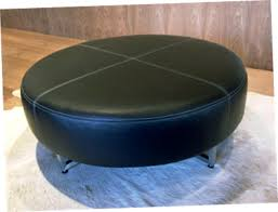design of round leather ottoman coffee table inexpensive round