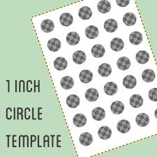 1 Inch Circle Template by Digital Collage Template 1 Inch Circle Bottle Cap Template
