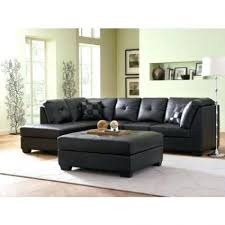 Faux Leather Sectional Sofa With Chaise Sectional Black Faux Leather Sectional Modern Black Faux Leather