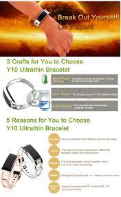 y10 bluetooth smart wristband power balance energy bracelet watch