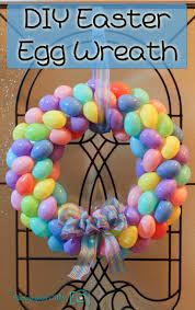 how to make an easter egg wreath 30 diy easter wreaths ideas for easter door decorations to make
