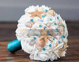 wedding bouquets with seashells turquoise seashell wedding bouquet wedding bouquet