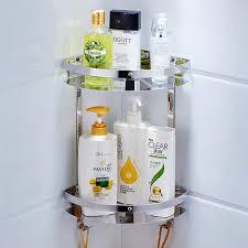 Hanging Bathroom Shelves 304 Stainless Steel Bathroom Shelf 3 Layer Restroom Corner Basket
