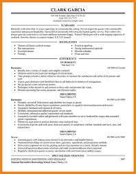 sample bartender resume teller resume sample