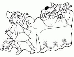 red riding hood coloring7
