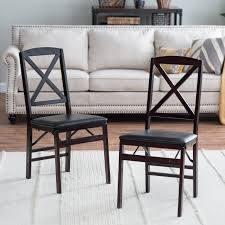 Folding Dining Chairs Wood Cosco Bridgeport Folding Chair With Vinyl Seat And X Back