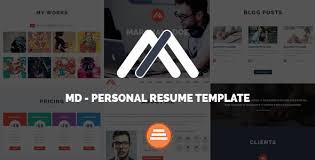 Resume Portfolio Template Md Responsive Personal Resume U0026 Portfolio Template Themelock
