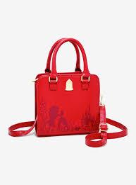 loungefly beauty and the beast rose handbag boxlunch