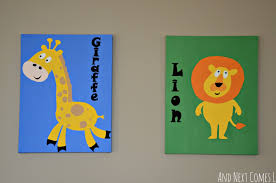 diy animal paintings for a kid u0027s room and next comes l