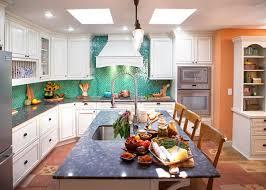 Fish Tiles Kitchen Interiors Tropical Kitchen Decorating Idea Features Fresh Green
