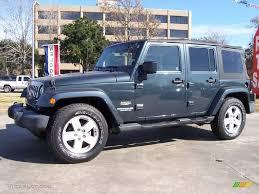 jeep gray blue 2007 steel blue metallic jeep wrangler unlimited sahara 23855840