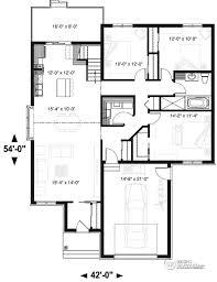 plan d une chambre bungalow 3 chambres avec garage plan de bungalow avec garage