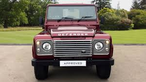 red land rover defender used land rover defender 90 swb diesel xs hard top tdci 2 2 for