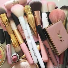 Makeup Ysl make up makeup brushes ysl mac cosmetics pink soft fluffy
