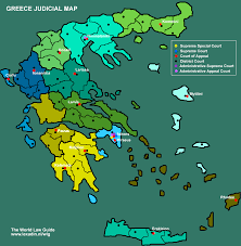 Thessaloniki Greece Map by Courts And Cases Greece Lexadin