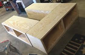 bed frames how to make platform bed with storage diy bed frame