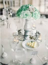 quinceanera table centerpieces mint green wedding centerpiece bridal table centerpiece