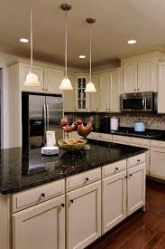Kitchen With Off White Cabinets Would Love To Have A Kitchen With An Island And Black Marble