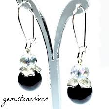 earrings uk ead5 black pearl borealis clear agneska designer