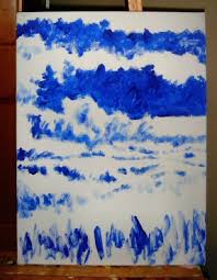 blue and white painting chalk barbara j carter